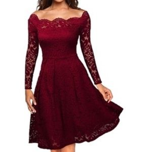 Leo rosi Anne's women's red cocktail dress
